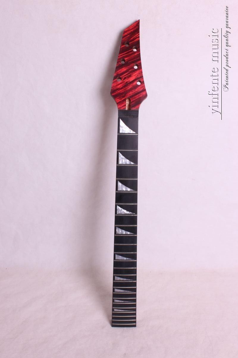 New 1pcs Electric guitar neck 24 fret 25.5 soild wood Truss Rod finished new electric guitar neck maple 24 fret 25 5 truss rod unfinished no frets nice
