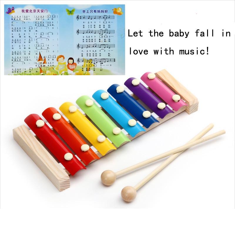 Instrumentos de música Para Crianças Mão Bater Brinquedos Educativos Para Crianças Brinquedos De Madeira Instrumento de Música Musique Enfant