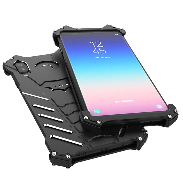 Coque for Samsung Galaxy A9 Star Case Aluminum Metal Shockproof Phone Case on for Funda for Samsung A9 Star Lite Case Cover Men
