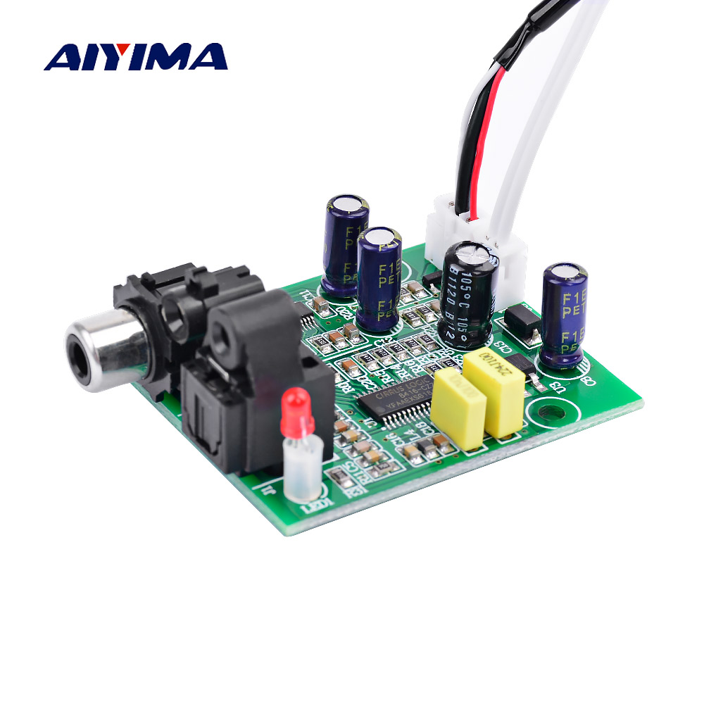 AIYIMA DAC Digital Decoder CS8416+CS4344 Optical Fiber Coaxial Digital Signal Input Stereo Audio Output Decod For Amplifier DIY