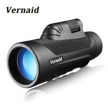 Compact monocular 10X42 Power night vision monoculars Optic Lens Telescope Multi Coating Lenses Dual Focus with clip tripod