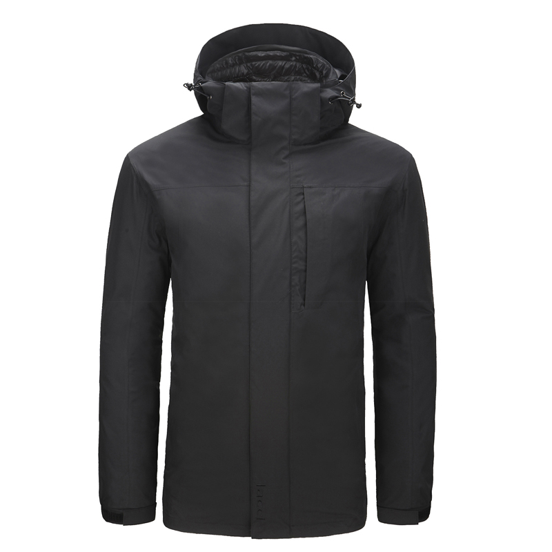 LACCI Men 014-B Ultra-light Soft And Warm 3-point Interchange Goose Down Jacket Fitness Outdoor Sport Clothing