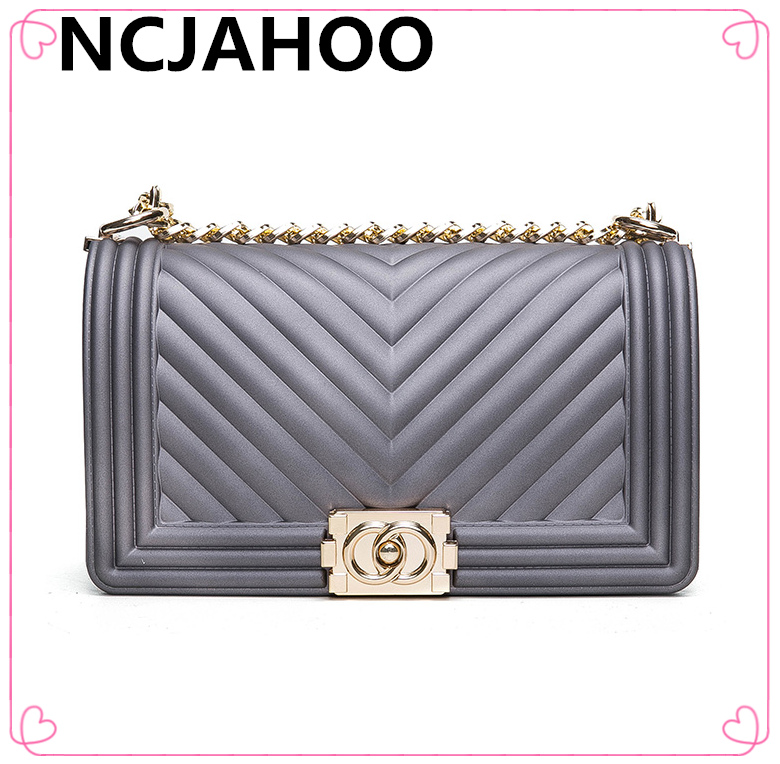a24eaae208 High Fashion Brand New Matte Jelly Bag Elegant Color With Wonderful Design  Women Messenger Handbag Crossbody Tote Bag-in Shoulder Bags from Luggage    Bags ...