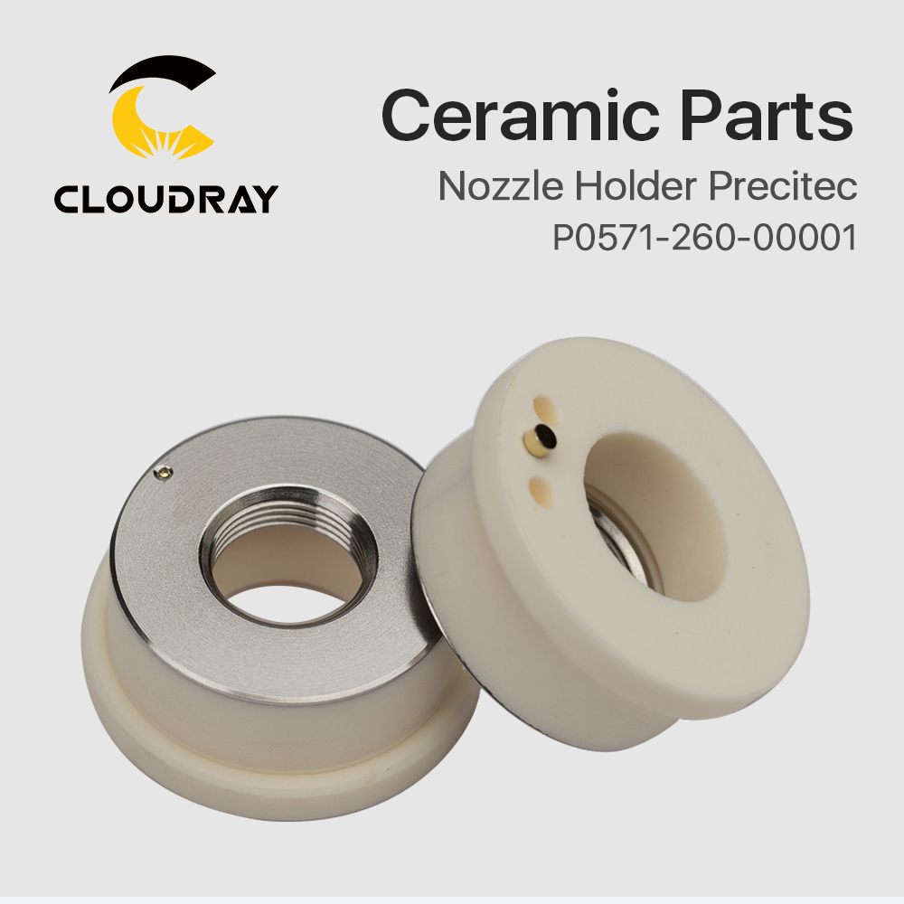 """""""Cloudray"""" lazerinė keraminė dia. 28 32 mm purkštuko laikiklio - Medienos apdirbimo mašinų dalys - Nuotrauka 3"""