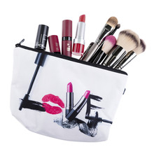 Cosmetic organizer bag 3D Printing Travel Makeup Case Portable Cosmetic Bags