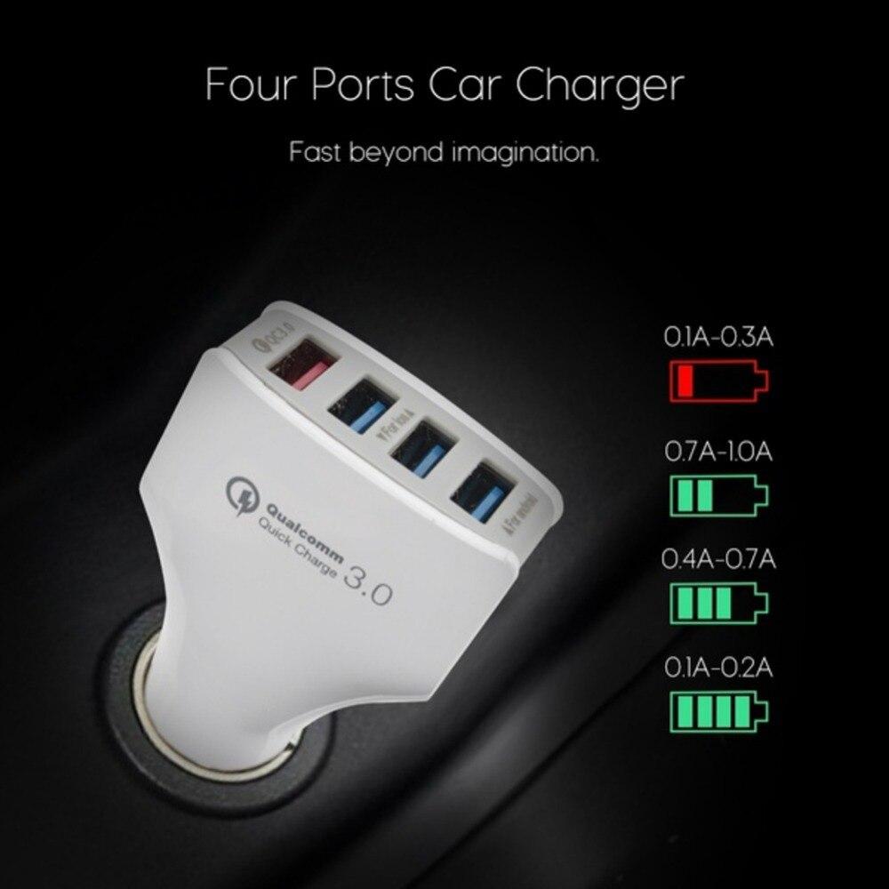 [4 Порты USB] norwolf автомобиля Зарядное устройство Quick Charge быстрой 3.0 вольт IQ USB Автомобильное Зарядное устройство для Xiaomi <font><b>Mi5</b></font> Для LG G5 elephone S7 в налич&#8230;