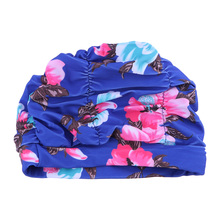Эластичная эластичная плиссированная Цветочная Защитная шапочка для ушей, шапочка для плавания, шапочка для плавания для женщин(случайный цвет