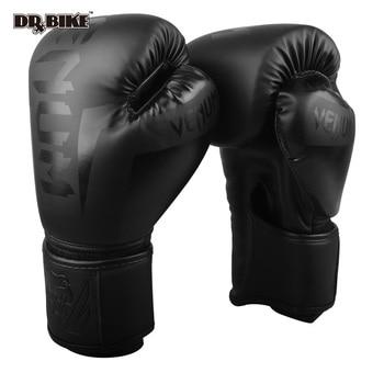 10,12, 14 OZ אגרוף כפפות עור מפוצל כפפות להילחם כפפות אגרוף אימון כפפת עבור גברים נשים