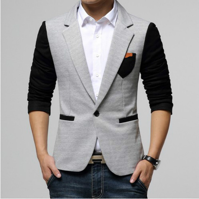 Ternos dos homens ocasionais um botão ternos TOP Design Sexy Slim FIT Jacket Coats ternos 9 colors M-XXXL