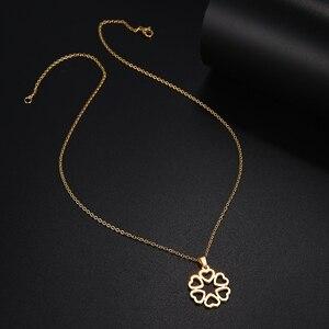 Ожерелье из нержавеющей стали DOTIFI для женщин и мужчин, ожерелье золотистого и серебристого цвета с подвеской в виде сердца, Помолвочные укр...