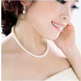 2018 hot selling new fashion cheap jewelry Elegant and generous imitation simulated pearl necklace for women Free Shipping