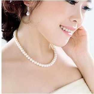 2018 nóng bán new thời trang giá rẻ đồ trang sức Thanh Lịch và hào phóng giả mô phỏng vòng cổ ngọc trai cho phụ nữ Miễn Phí Vận Chuyển