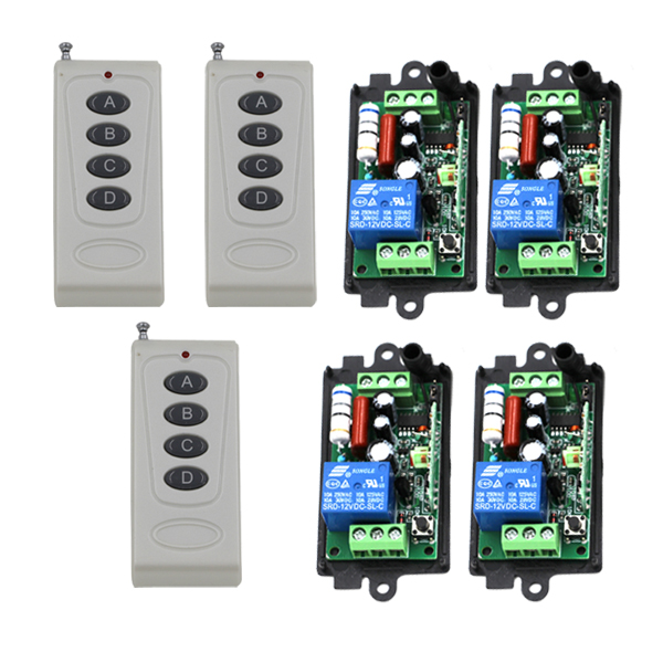 110V 220V 10A 1 Channel Wireless RF Remote Control Switch 315Mhz for Alarm of Motorcycle Bicycle Supermarket SKU: 5387 high quality dc 12v 10a 1 channel wireless control rf 200m long range remote control 4pcs 315mhz switch sku 5367