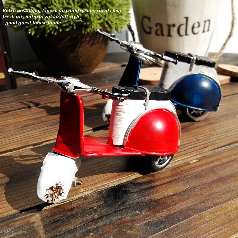 Фотография mini vintage  metal toy motorcycle toys hot wheel safe Cool Diecast blue yellow  red motorcycle model toys for kids collection