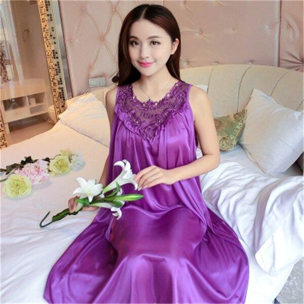 Hot Women Night Gowns Sleepwear Nightwear Long Sleeping Dress Luxury Nightgown Women Casual Night Dress Ladies Home Dressing Z79 8
