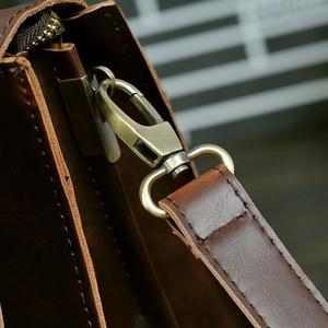 Image 3 - Maletín de negocios para hombre, bolsa de piel Crazy horse de sección cruzada, bandolera de hombro para ordenador, 2020