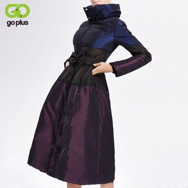 Goplus зимняя куртка 2017, Женская обувь в европейском стиле белая утка X-длинные Пух куртка плюс Размеры Для женщин S Пальто и пуховики Лоскутная куртка баян MONT