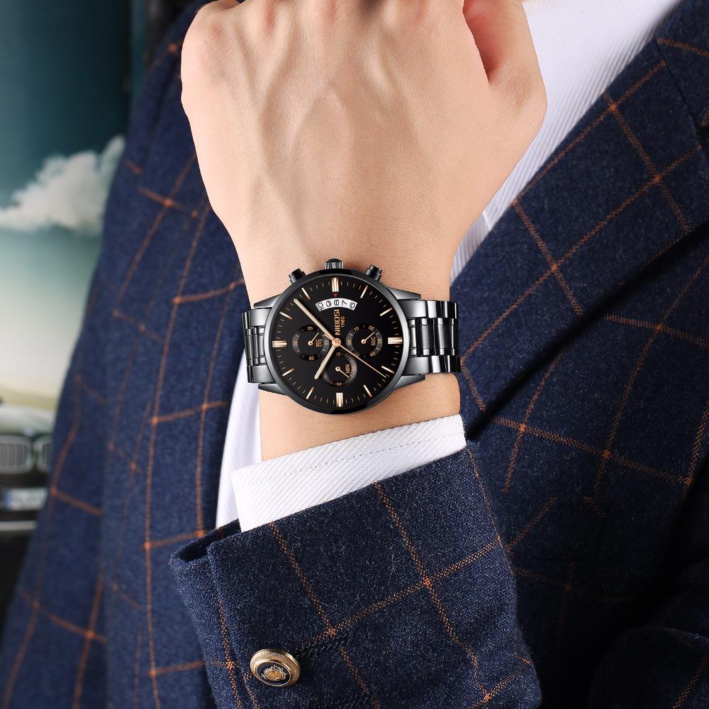 Relojes de hombre NIBOSI Relogio Masculino, relojes de pulsera de cuarzo de estilo informal de marca famosa de lujo para hombre, relojes de pulsera Saat 11