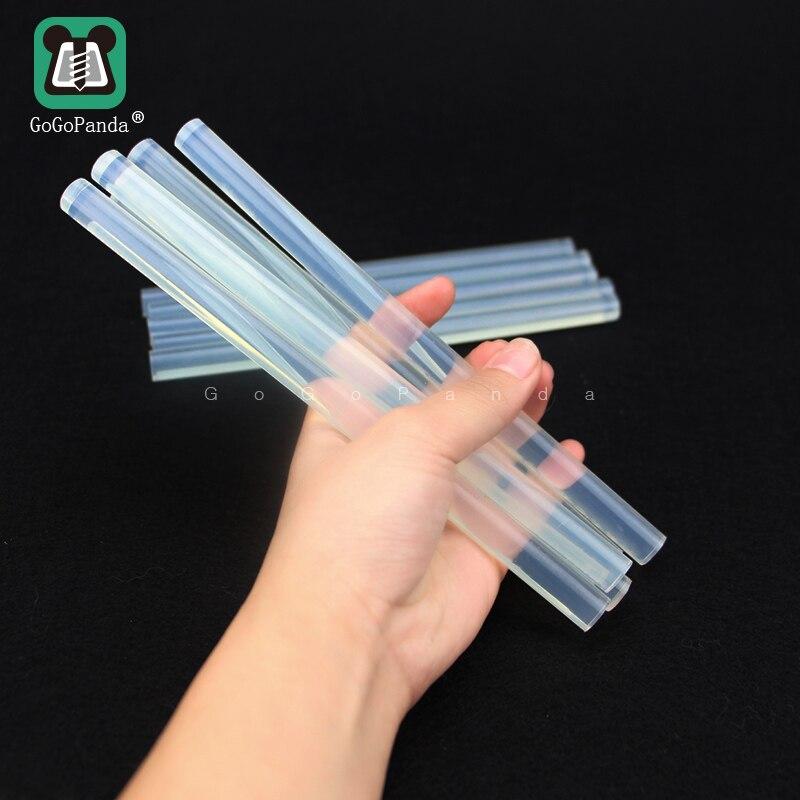 Free Shipping (10PCS/Lot) Non-Toxic Transparent 11mm X190mm 7mmx190mm Hot Melt Glue Sticks For DIY