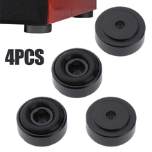 4pcs Black CD Player Feet Pad Shockproof Aluminum Speaker Mat Cabinet Isolation Base With Removable Non-slip Rubber Ring For AMP цена 2017
