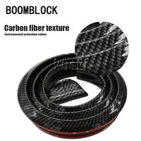 BOOMBLOCK 1set Car Carbon Fiber Tail Wing 3M Stickers For Skoda Octavia A5 A7 2 Lexus