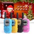 Presente de aniversário! T388 Walkie Talkies Par das Crianças Dos Miúdos Rosa Mini Walkie Talkie de Brinquedo Para O Menino Meninas Estação de Rádio Portátil de 2 Vias