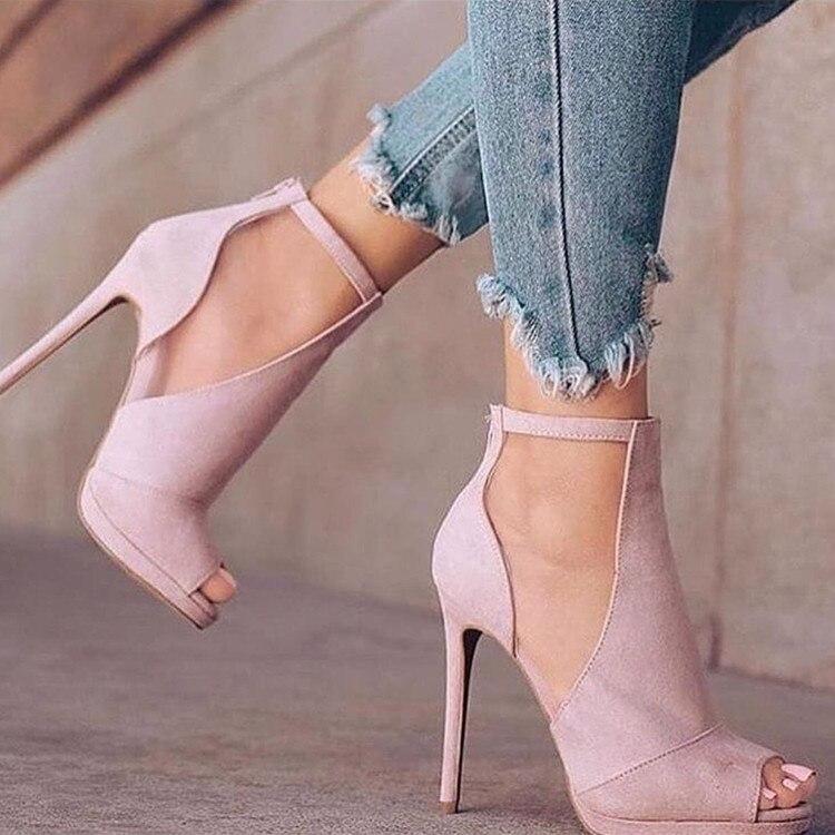 talon Ef1779 Décontracté 15 6 Femmes Pour Taille Talons L'intention Toe Initiale Femme Rose Chaussures Hauts Américaine Pink Peep Protège Sandales D'été H7gxE1gw