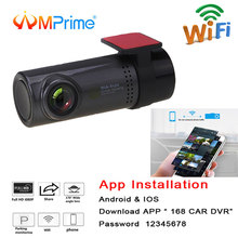 AMPrime Mini WiFi Dell'automobile DVR del Cruscotto Della Macchina Fotografica 360 gradi HD 720 P Video Registratore Auto Anteriore Dash Cam Digitale Registrar videocamera