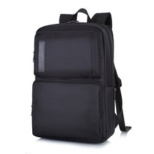 Fashion usb charging men 15.6 inch laptop backpack bag black waterproof travel backpack business backpacks large capacity bags balang brand business large capacity backpack for 15 6inch laptop unisex waterproof casual men travel backpack with usb charging