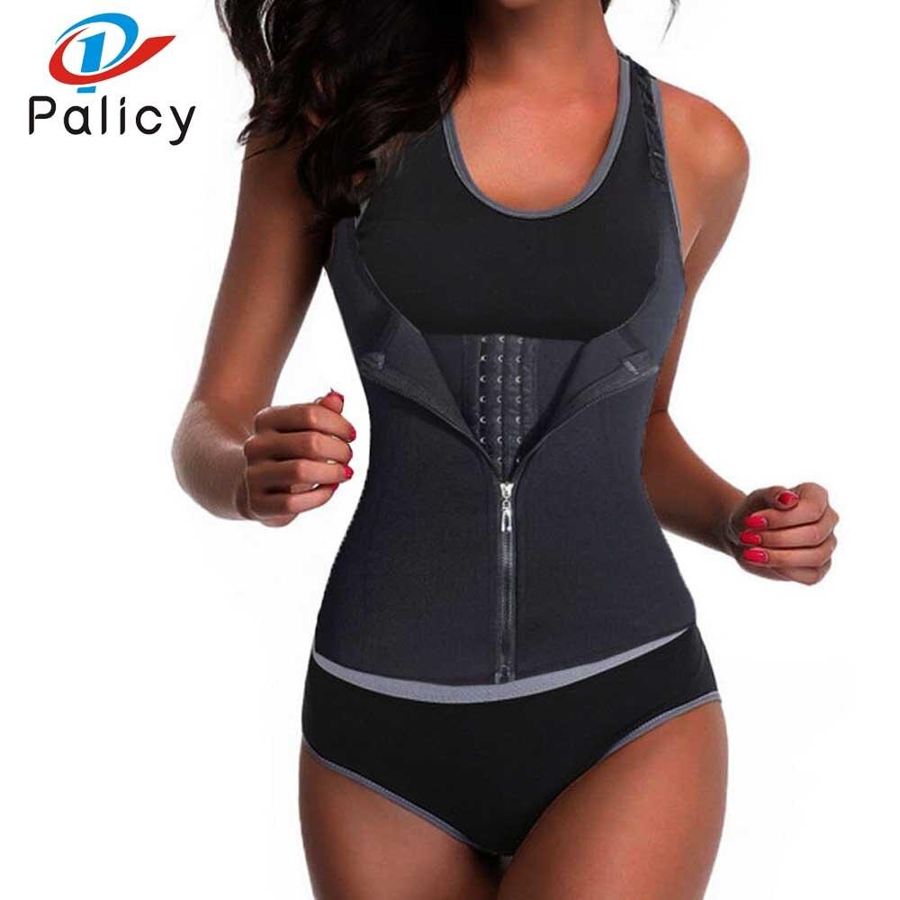 Palicy Bodysuit Women Modeling Strap Slimming Waist Trainer Fat Burning Body Shaper Tummy Waist Cincher Tank Shapewear Plus Size