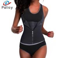 Palicy Bodysuit Women Modeling Strap Slimming Waist Trainer Fat Burning Body Shaper Tummy Waist Cincher Tank