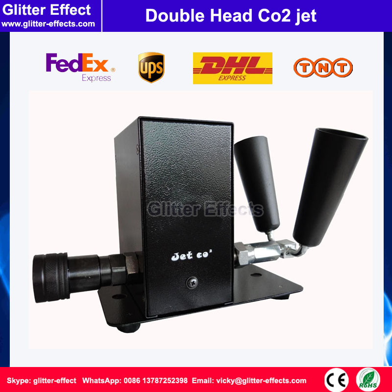 Stage Double Head DMX512 Co2 jet Special effect DJ Disco night club cyro fog machine