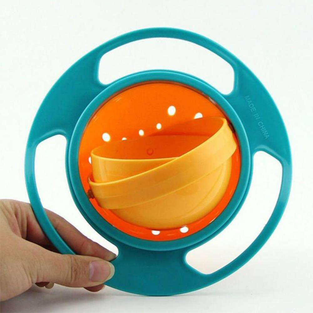 360 Rotate Spill-Proof Solid Feeding Dishes Multifunctional Gyro Bowl Practical Baby Rotary Balance Umbrella Infant Feeding Tool