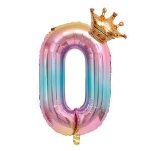 Image 5 - Large 32inch Helium Air Digit Figure Big Crown Number Foil Balloon Birthday Party Decorations Kids