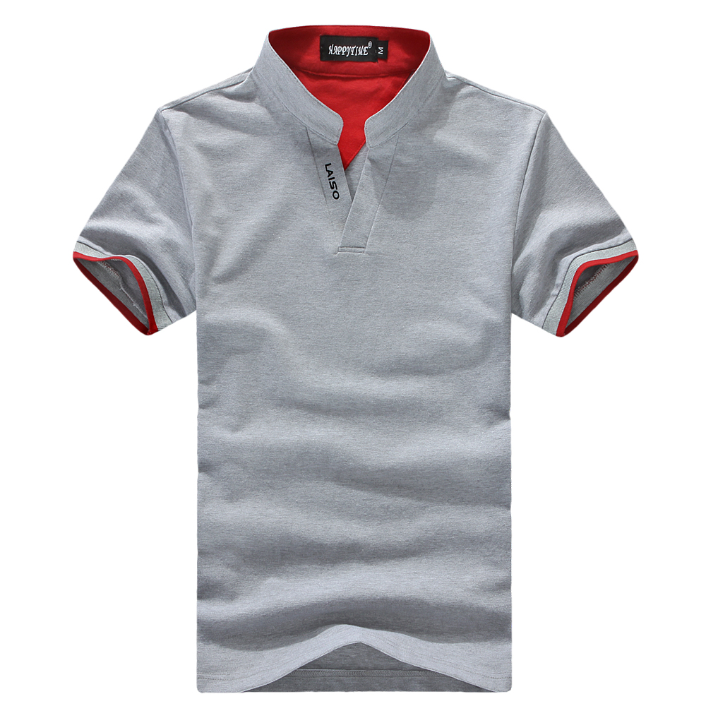 Free shipping 2017 New Style men's Simple fashion short sleeve cotton   Polo   Shirts slim fit   Polo   Shirt Large size biack gray 5XL