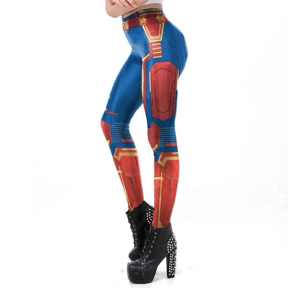 Avengers Endgame kaptan Marvel Carol dansçı Cosplay kostümleri kadın kız seksi yazlık T-shirt mayo mayo tayt takım elbise yeni