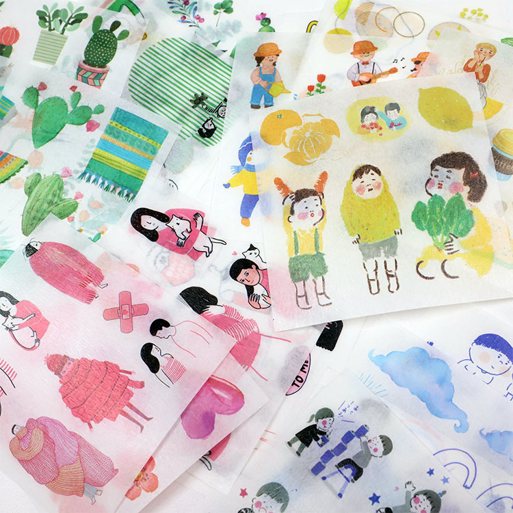 60 Sheets in Box Creative Journal Scrapbook DIY Sketchbook Decorative Sticker Washi Paper Sticker in Stationery Stickers from Office School Supplies