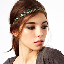1 chic women lady elastic fashion metal rhinestone head chain jewelry headband hairband hair band acessories