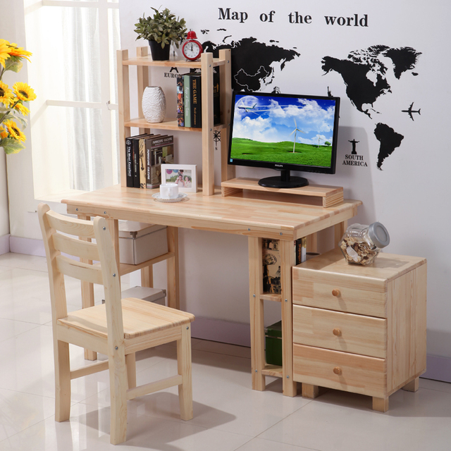 Enfant cor en simple ordinateur de bureau en bois tudiant for Bureau en bois pour ordinateur