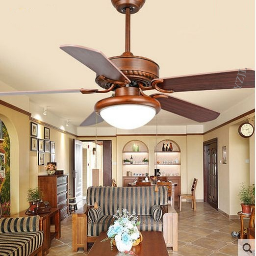 Restaurant Continental Antique Electric Pendant Fan Lights Living Room Bedroom Dining Light