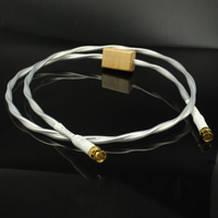 Free shipping Coaxial Digital AES EBU interconnect cable with Gold plated bnc Plug