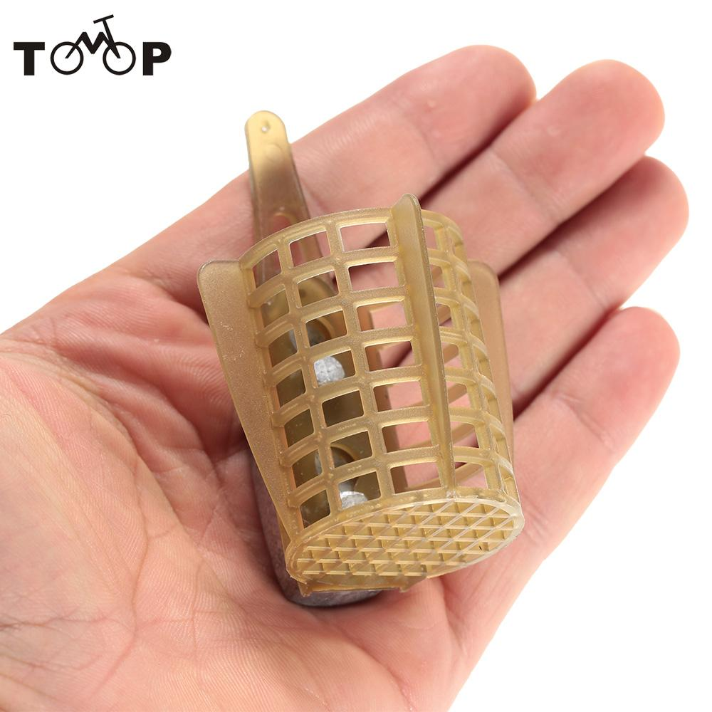 Basket Cage Fishing Trap Carp Fishing Feeder Bait Cage Lure Holder Fishing Accessory with Lead Sinker Fishing Tackle Boxes
