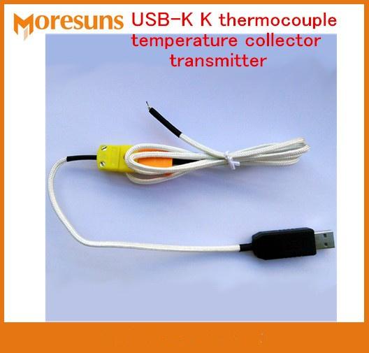 Free driver USB K K thermocouple temperature collector transmitter( can change the probe) Supports secondary development
