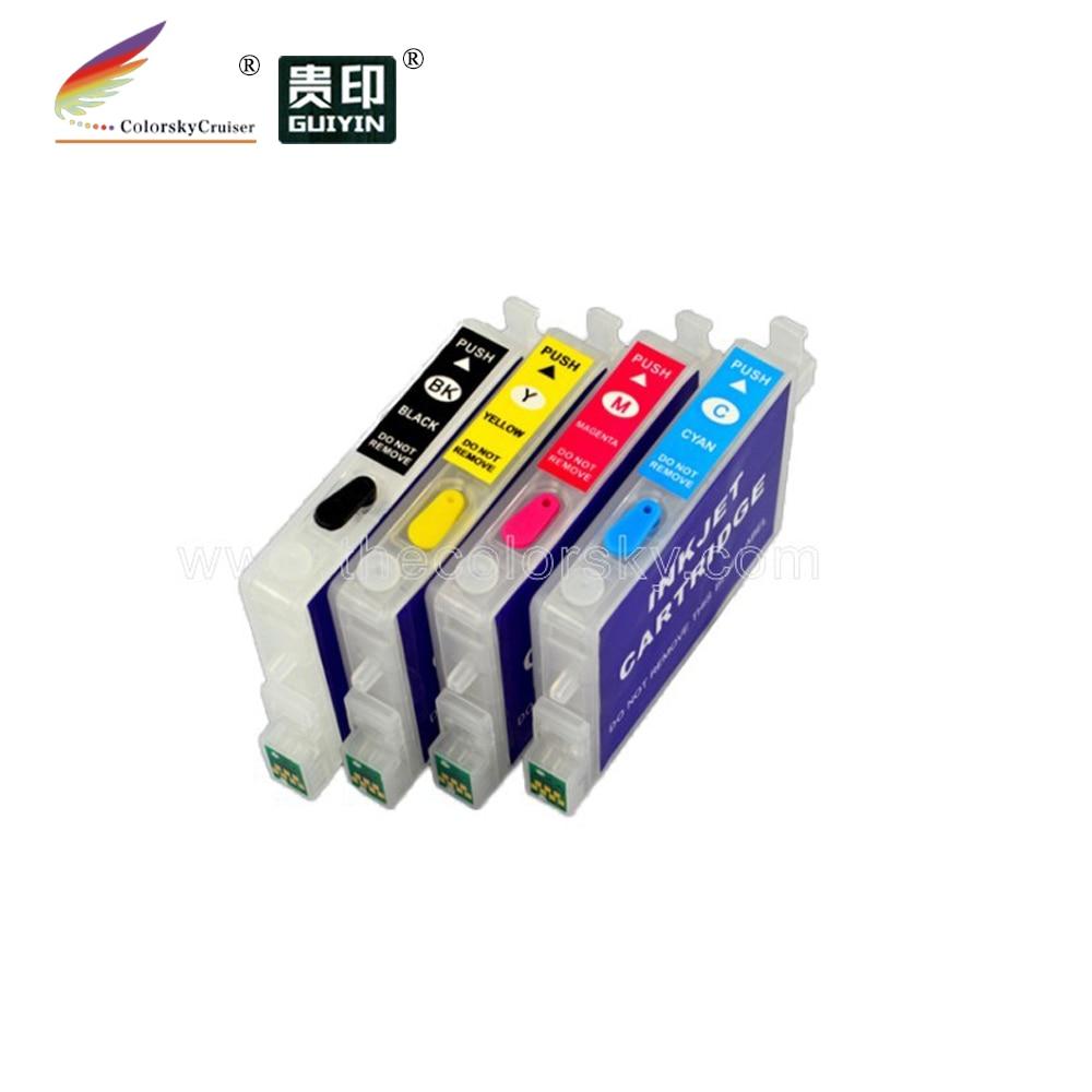 RCE611-614) 5 комплектов многоразовый картридж с чернилами для принтера Epson T0611-T0614 BK/C/M/Y стилус D68 D88 D88+ DX3800 DX3800+ DHL