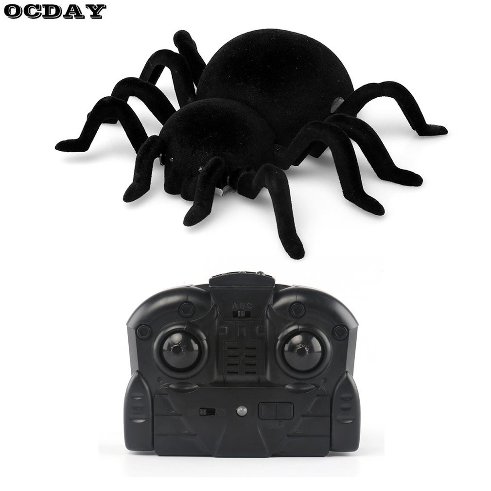 OCDAY Infrared Wall Climbing Spiders RC Toy Remote Control Electronic Mock Fake Animal Christmas Trick Terrifying Kids Toys Gift protective tpu pc bumper frame for iphone 5c orange