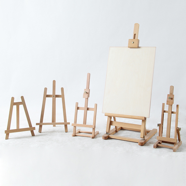 Large Wooden Easel Watercolor Gouache Oil painting Frame Wood Wedding Table Card Stand Display Holder Party Decor Paint Stand