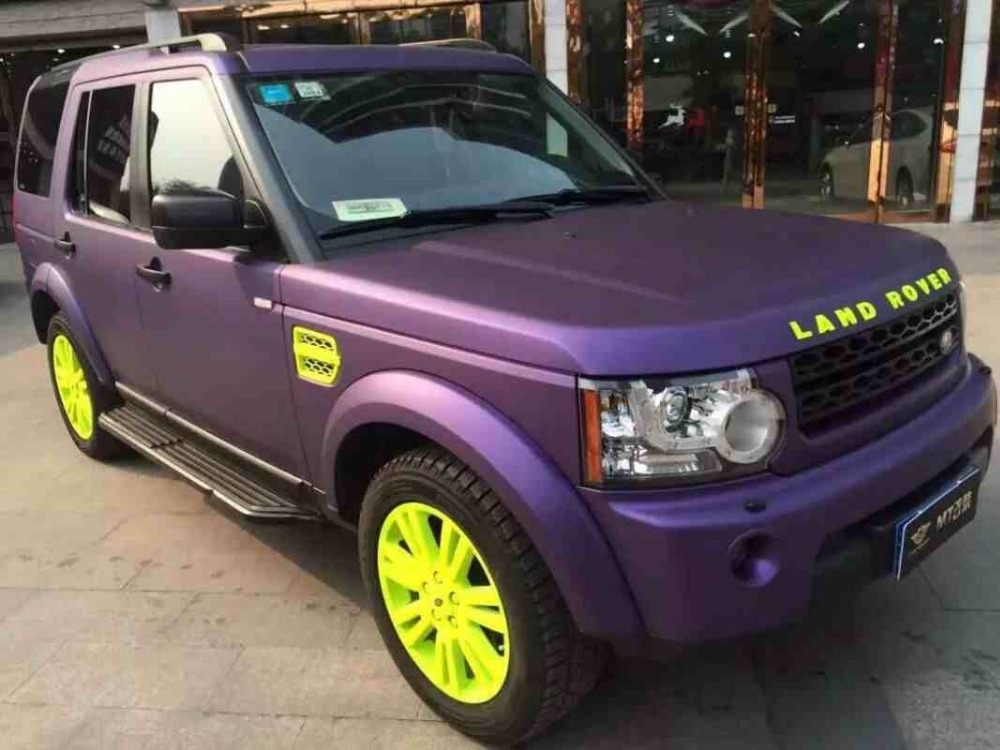 Frozen Matte Purple Metallic Car Wrap Film With Air Bubble Free