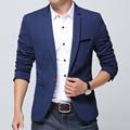 2016 дизайнер мужчины Костюм Куртки Осень Тонкий пиджак мужской случайный Пиджак мужчины высокого качества Бизнес платье Блейзер для мужчин 6XL