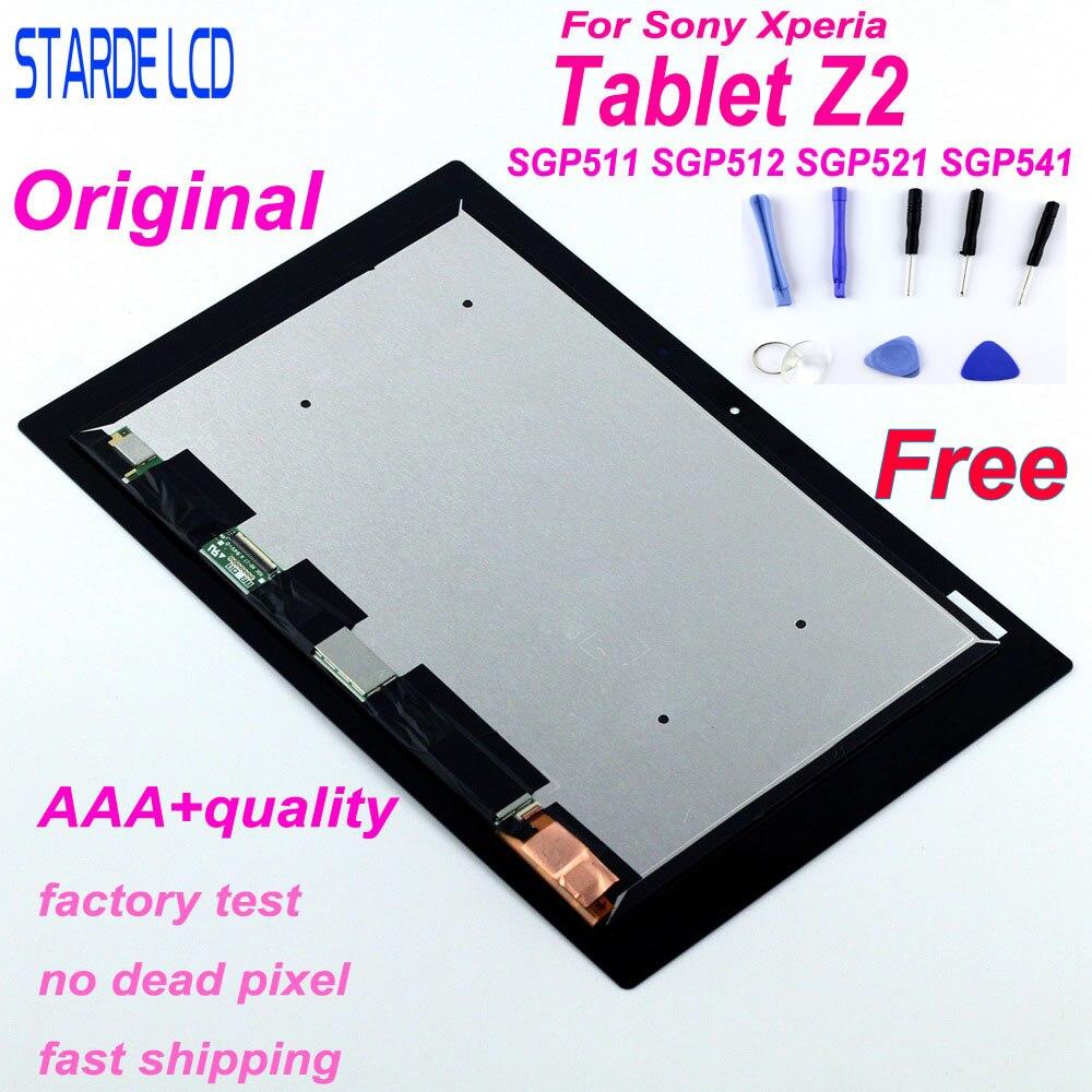 LCD d'origine pour Sony Xperia tablette Z2 SGP511 SGP512 SGP521 SGP541 VVX10F034N00 LCD écran tactile numériseur assemblée + outil