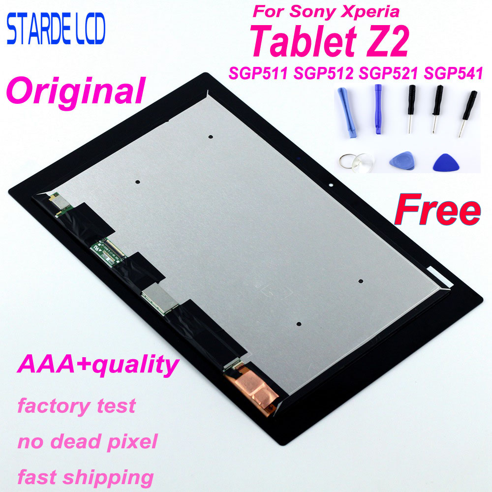 Original LCD For Sony Xperia Tablet Z2 SGP511 SGP512 SGP521 SGP541 VVX10F034N00 LCD Display Touch Screen Digitizer Assembly+Tool